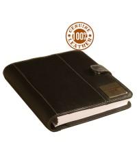 """,,the brown book"""" - Genuine Leather Planner / Organiser MA-v1 Black-Desktop Size."""
