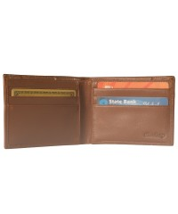 Elegant & functional bifold wallet in genuine leather eZeeBags 3350v1-Brown