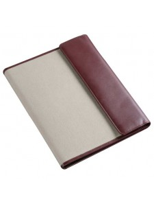 Leather Canvas Conference Folder  A4 Size CL201A4 Top.jpg