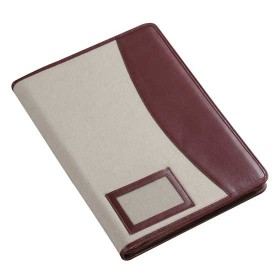 Leather Canvas Conference Folder  A4 Size CL202A4 Top.jpg