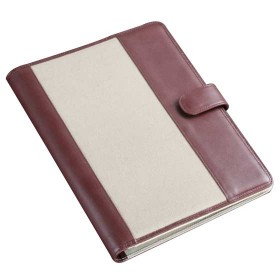 Leather Canvas Conference Folder  A4 Size CL203A4 Top.jpg
