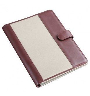 Canvas and Leather Trim A4 Size Conference Folder CL203A4